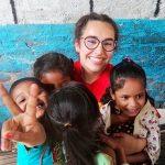 Volunteering with children in India