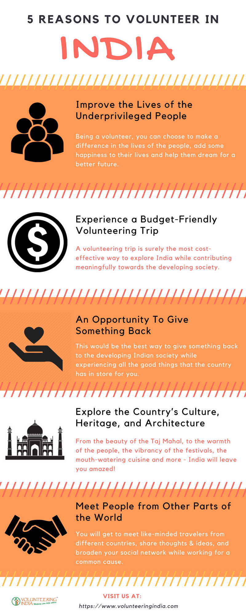 reasons to volunteer in india