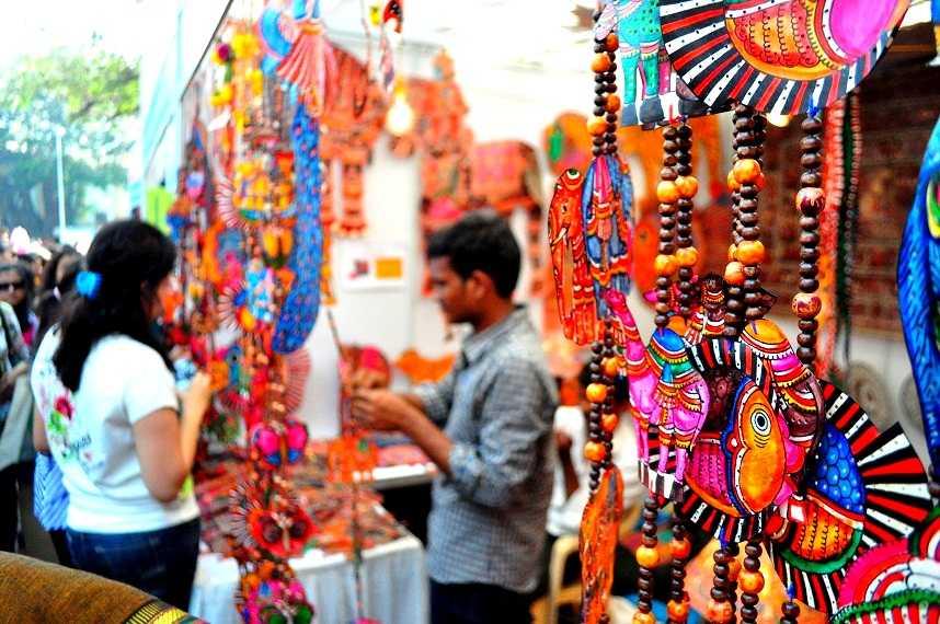 shopping at delhi market